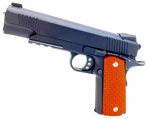 Softair Metall-Pistole 22cm Spielzeug Waffe Federdruck 0,5J