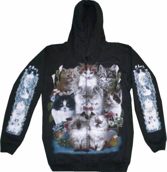 Biker Jacke 4634 Herren Damen Pullover Gothic Punk Kaputzen Biker Jacke S-XL black Sherpa Hoodie Sweatshirt Kaputzen Pulli #29