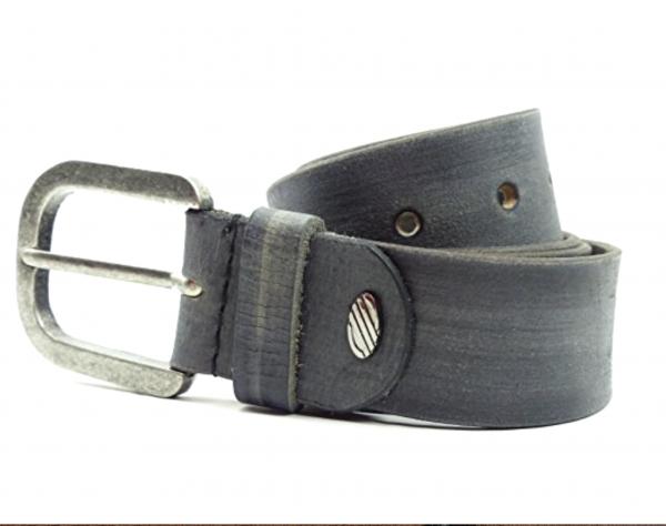 Leder-Gürtel Büffel-Leather Jeans Belt Business Gürtel GRAU 4x130cm