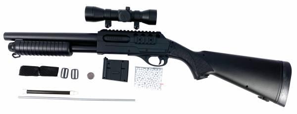 Softair Gewehr Airsoft Sniper Shot Gun PGS80R black 78cm 0,49 Joule