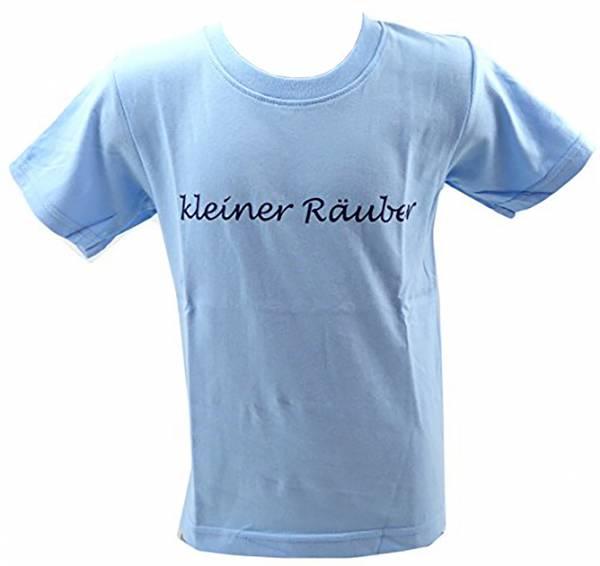 Kinder-Hemden Sprüche T-Shirts 1 - 6 Jahre viele Farben KLEINER RÄUBER hell-blau (1-2 J, hellblau)
